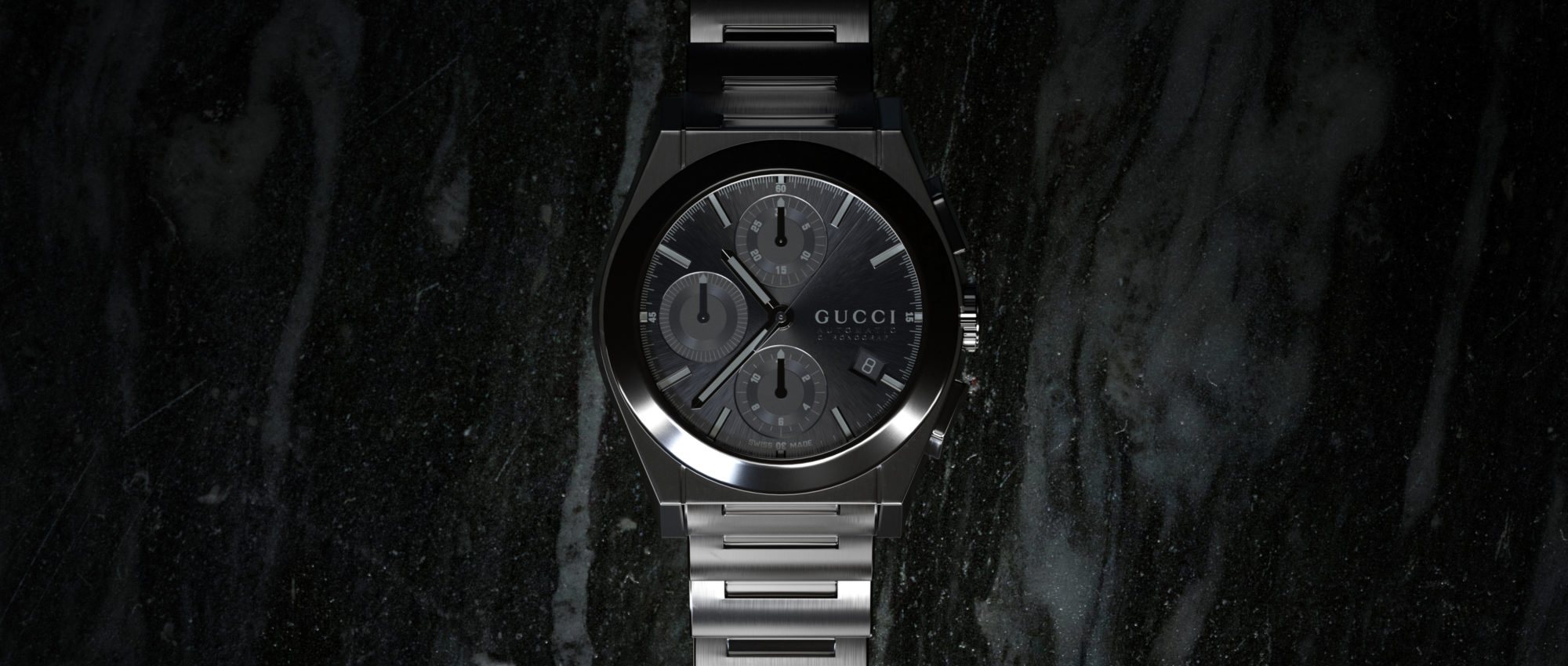 Gucci Watch Gunmetal Marble