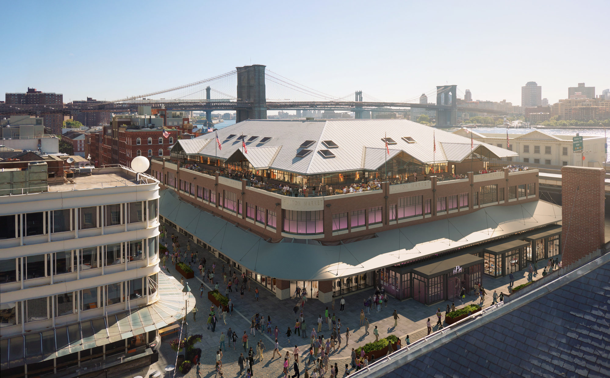 South Street Seaport Building Aerial
