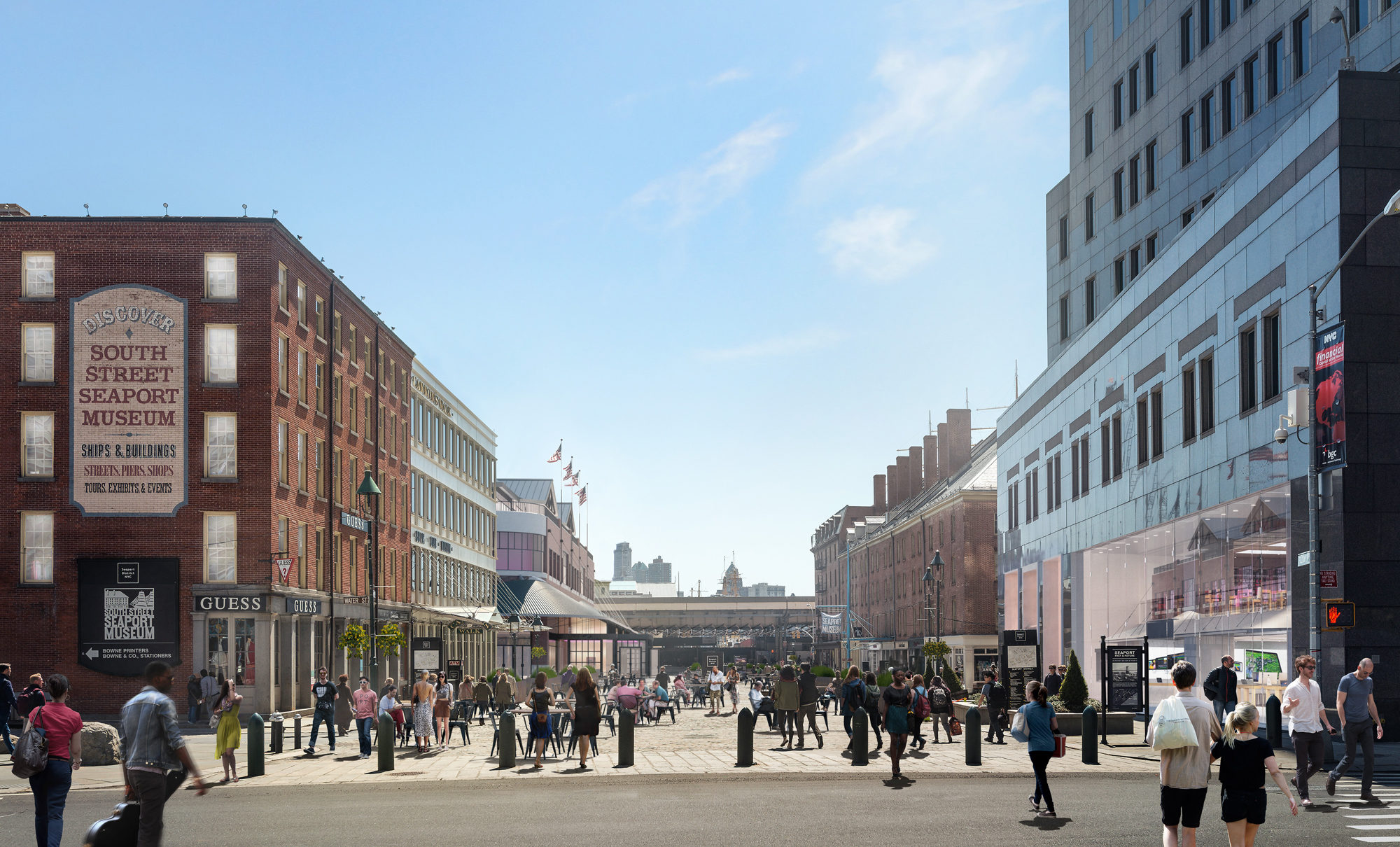 South Street Seaport Entrance By Day
