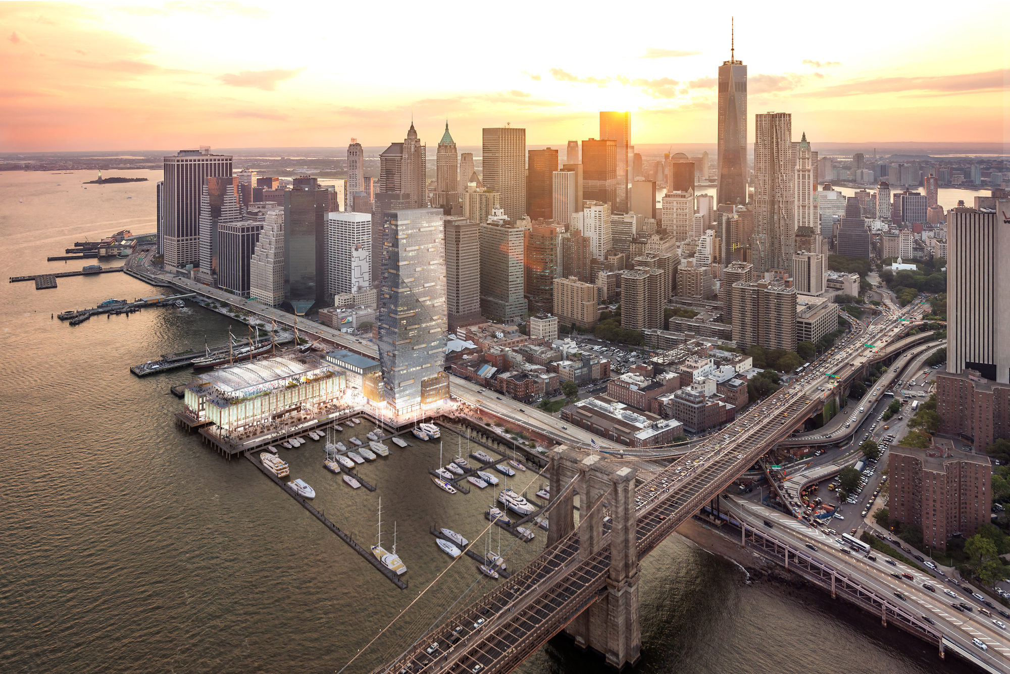 South Street Seaport Nyc Aerial 1