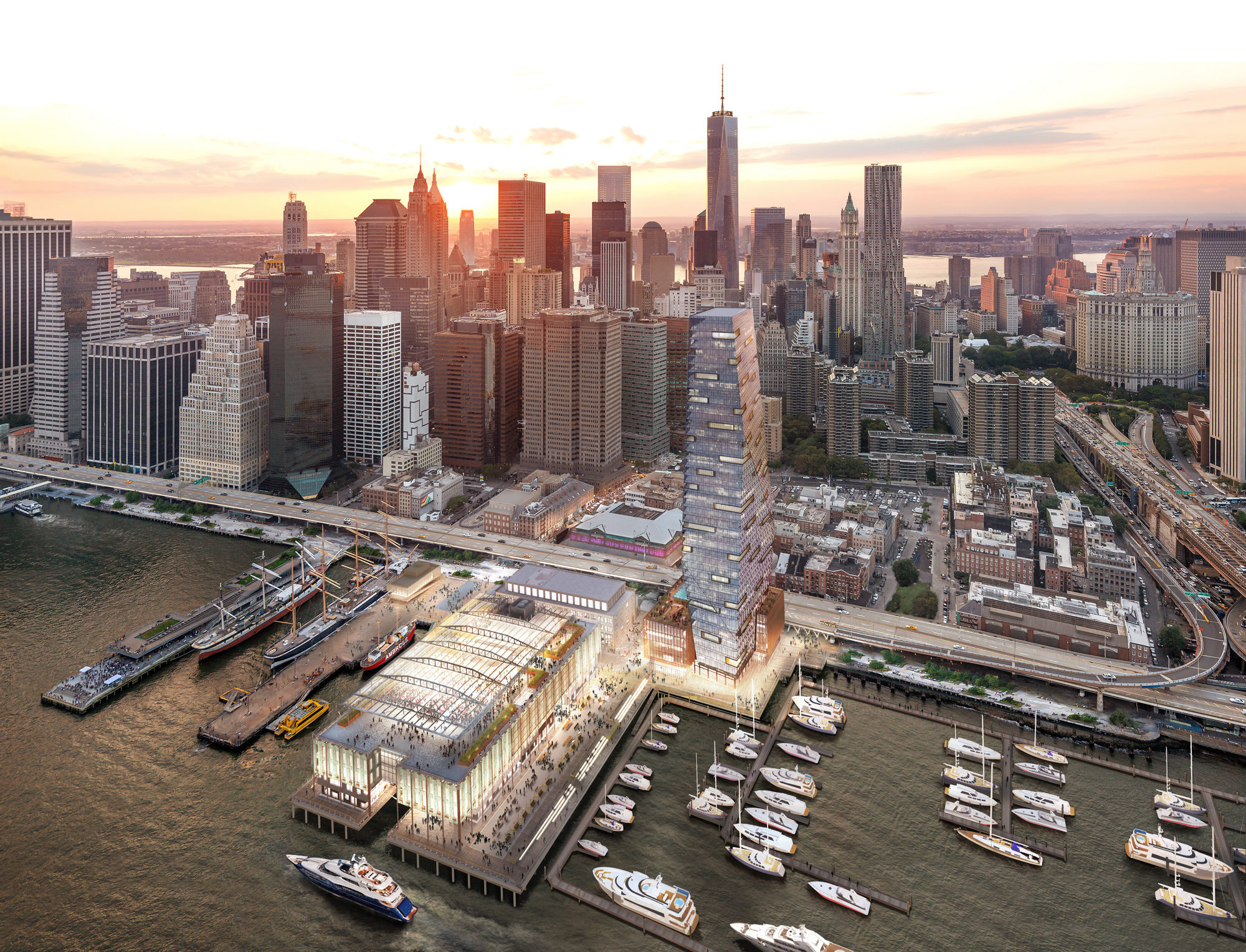 South Street Seaport Nyc Aerial 2